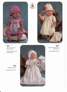 Albumarkiv Doll Clothes Patterns, Doll Patterns, Clothing Patterns, Knitting Patterns, Crochet Dolls, Knit Crochet, Crochet Hats, Girl Dolls, Baby Dolls