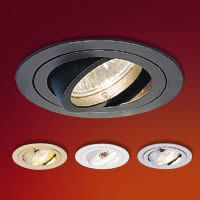 Miniature MR16 Low Voltage Recessed Lighting Fixtures with Gimbal Ring