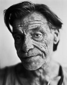 Stephan Vanfleteren, old guy, man, portrait, wrinckles, lines of life, expression, powerful face, intense eyes, portrait, b/w.