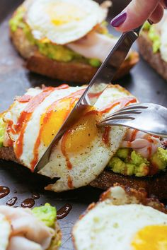 Avocado Toast with Turkey and Egg from The Lemon Bowl on foodiecrush.com