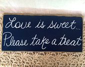 Rustic Navy Blue and White No Seating Plan Wedding Sign. $20.00, via Etsy.  #DBBridalStyle