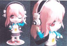 Chibi Super Sonico paper craft