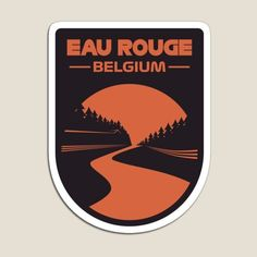 'Eau Rouge' Spa, Belgium F1 Track Design #f1 #formula1 #spa #eaurouge #radillion #belgium #motorsport #racing #track #circuit #vintage #art #2021