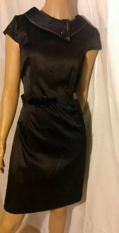 LONDON TIMES Black DRESS size 8, Bust 36, #S39