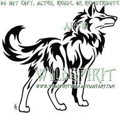Strong Wolf Tribal Tattoo by WildSpiritWolf on DeviantArt