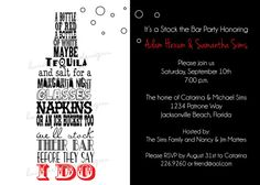 Stock the bar Invitation engagement party PRINTABLE couples