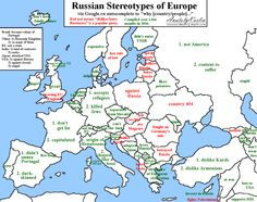 - Russian stereotypes of Europe via Google.ru autocomplete. More...