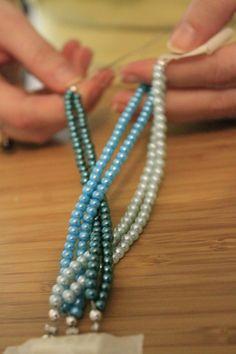 DIY Braided Pearl Bracelet Tutorial - Charleston Crafted #BraceletsJewelry