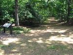 Site of the wounding of Stonewall Jackson at Chancellorsville Battlefield.