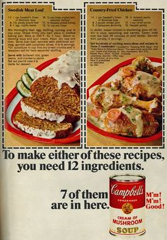 Woman's Day, September 1968 Campbell's Soup with Two Recipes