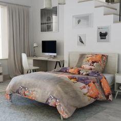 3D povlečení fotopotisk fototisk šedé hnědé khaki zelené koně kůň Bed, Furniture, Home Decor, Decoration Home, Stream Bed, Room Decor, Home Furnishings, Beds, Home Interior Design