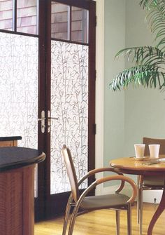 Create an etched glass look on windows and doors with this Decorative Window Privacy Film. It blocks unwanted views, filters light and improves your privacy in one easy step! Translucent, vinyl film attaches quickly and easily Home Depot, Dc Fix, Living Area, Living Room, Window Privacy, Window Film, Windows And Doors, Accent Decor, Dining Chairs