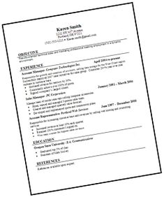 resume example online download