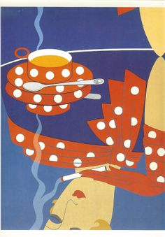 1982 Art Deco Erte  Double Sided Print  Cup by printsandpastimes, £6.00