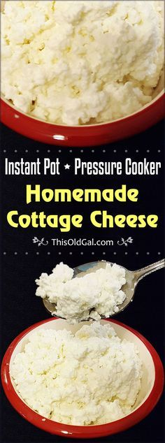 Instant Pot Homemade Cottage Cheese Recipe via @thisoldgalcooks