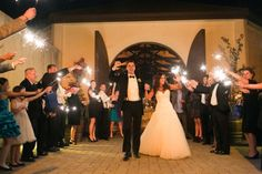 Sparklers are an awesome touch to send the bride and groom on their way.   Plan your wedding at Chateau Julien!  http://www.chateaujulien.com/meeting-events-venues/planning-your-event