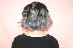 "Perhaps it's more ""newly divorced ex-wife of Frankenstein getting her groove… Black To Silver Ombre, Silver Ombre Hair, Grey Ombre, Hair Styles 2016, Medium Hair Styles, Curly Hair Styles, Green Hair, Purple Hair, Grey Hair Maintenance"