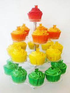 """Gummy Bear Cupcakes: I feel like I should do these in honor of the """"Gummibär"""" turning 90 this year."""