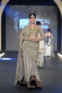Sari by Sana Safinaz at PFDC Bridal Week 2013.