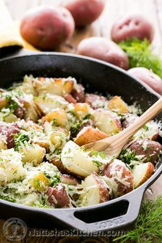Buttered Red Potatoes with Dill (sometimes the best recipes are the simplest!) @NatashasKitchen.com