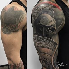 Cover Up Roman Tattoo Skull Tattoos, Body Art Tattoos, Tribal Tattoos, Leg Tattoos, Stomach Tattoos, Men Sleeve Tattoos, Girl Tattoos, Tatoos, Warrior Tattoos