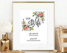 WIFI Password Printable  Mi Casa Es Tu Casa  Guest Room Sign