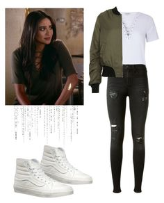 """""""Emily Fields - pll / pretty little liars"""" by shadyannon ❤ liked on Polyvore featuring Glamorous, rag & bone, Topshop and Vans"""