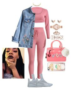 """""""Untitled #2398"""" by mrkr-lawson ❤ liked on Polyvore featuring Puma, FOSSIL, Charlotte Russe, Michael Kors, Bliss Diamond, Accessorize, Furla and Casetify"""