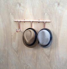Copper Coat Rack Hat Rack Industrial Design Copper by MacAndLexie