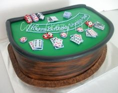 Blackjack Table Cake
