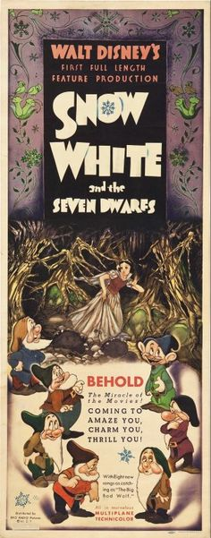'Snow White and the Seven Dwarfs' (1937). The first of Disney's classic feature length animated films.