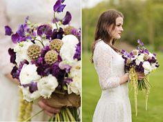 Pretty purple garden bouquet