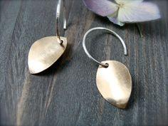 golden petal ... mixed metal earring by sirenjewels on Etsy