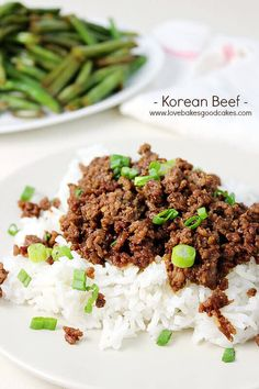 Korean Beef is the perfect weeknight dinner that is easy to make, flavorful, and budget friendly that gets served over rice and topped with green onions!  via @bestblogrecipes