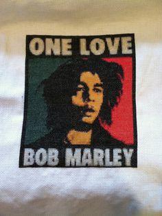 Bob Marley One Love Cross Stitch Pattern by BekkisStitches on Etsy, $6.50