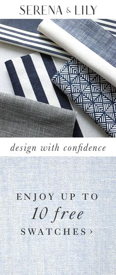 Enjoy up to 10 free fabric swatches for your next upholstery project. Let's get started together.