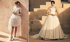 Bollywood star Sonam Kapoor models Saudi Arabian gowns in desert shoot