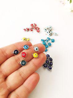 Evil Eye Jewelry, Evil Eye Necklace, Evil Eye Bracelet, Necklace Charm, Diy Jewelry Charms, Cute Jewelry, Beaded Jewelry, Murano Glass Beads, Evil Eye Pendant
