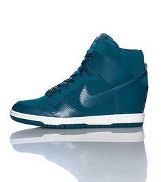 quality design 6e890 c040b Mujer Zapatillas Nike Dunk Sky High 528899 300 Verde Mediano Blanco Nike  Wedges, Nike Heels