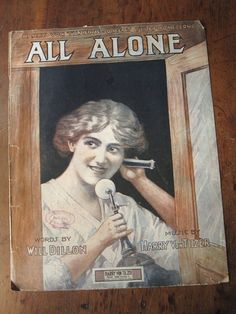 All Alone is vintage sheet music for the song by Harry Von Tilzer and Will Dillon. The cover, unsigned but attributed to Etherington (or possibly
