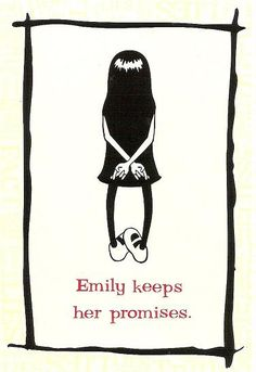 Emily the Strange postcard: Emily keeps her promises. by DeeDeeQ5724, via Flickr