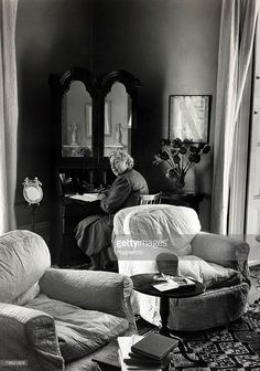 Agatha Christie at her home Winterbrook House, Wallingford, Berkshire