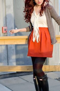 bd1acc46550 Modest But Classy Skirt Outfits Ideas Suitable For Fall14