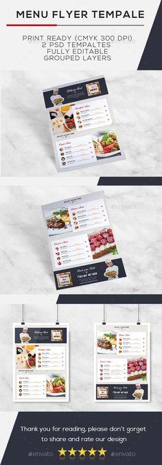 Stylish Flyer Restaurant Menu - Food Menus Print Templates