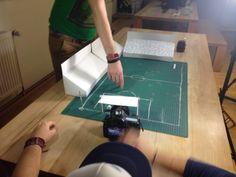 Erster Probedreh mit Pappkulissen: Freistoßtrockentraining. #PaperShot #Fingerfußball