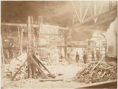 Statue of Liberty Being Built in 1883 View of the workshop, with models of the Statue of Liberty in the background Ellis Island, Monuments, Liberty Island, New York Harbor, History Of Photography, Travel Photography, New York Public Library, Under Construction, Rare Photos