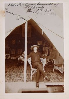 1894 WILLIAM BUFFALO BILL CODY SIGNED AND INSCRIBED CABINET CARD PHOTO.