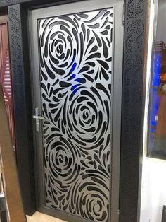 DXF File for CNC Machines tested and cut. Grill Door Design, Door Gate Design, Wooden Door Design, Main Door Design, Laser Cut Screens, Laser Cut Panels, Laser Cut Metal, Cnc Laser, Corte Plasma