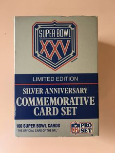 1990 Pro Set Super Bowl XXV Limited Edition Commemorative Card Set - Trading cards - NFL - Silver Anniversary - 25th Anniversary by MuppetLoveVintage on Etsy