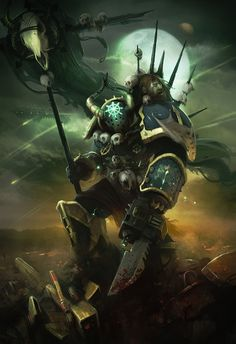 Chaos Space Marine by Dave Greco Warhammer 40k Art, Warhammer Fantasy, Fantasy Fiction, Sci Fi Fantasy, Space Marine, Techno, Sci Fi Art, Illustrations, Fantasy Characters